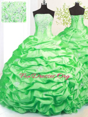 Romantic Pick Ups Ball Gowns Sleeveless Sweet 16 Quinceanera Dress Sweep Train Lace Up