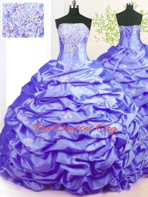 Extravagant Sleeveless Sweep Train Beading and Pick Ups Lace Up Quinceanera Dress