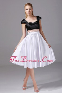 White and Black A-line Simple Short 2013 Prom Dress Homecoming
