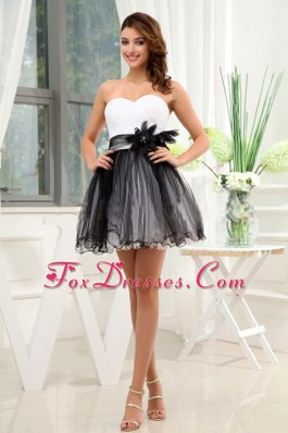 Short Black and White Prom Cocktail Dress