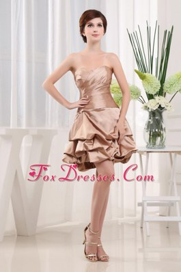 Short Prom Sweetheart Cocktail Dress Champagne A-line