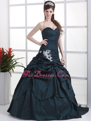 Exquisite Sweetheart Appliques and Pick-ups Prom Dress