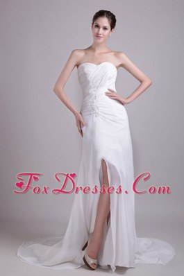 Appliques Wedding Dress 2013 Chiffon Court Train New Style
