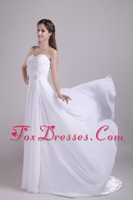 Chiffon Beading Plus Size Wedding Gowns 2013 Court Train