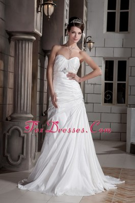 Unique A-line Wedding Dress Princess Sweetheart Taffeta