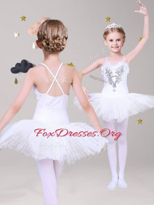 Decent Lace Sleeveless Criss Cross Mini Length Appliques Flower Girl Dresses