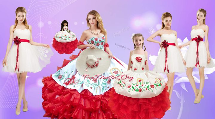 Suitable Organza Sleeveless Floor Length Sweet 16 Dresses and Beading and Ruffles