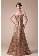 2013 Stylish Strapless Empire Beading Long Prom Dress