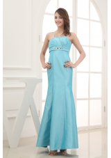 2013 Spaghetti Straps Beading Ankle-length Prom Dress