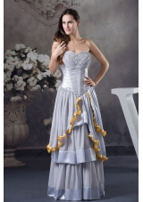 Custom Made Sweetheart Beading Empire Long Prom Dress
