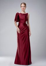 Burgundy Mother of The Bride Dress with Appliques