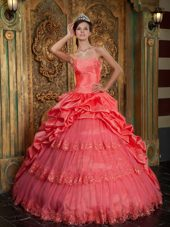 Ball Gown Quinceanera Dress Sweetheart Lace Applique 2013
