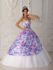 Quinceanera Dress 2013 A-line Sweetheart Floor Length Print