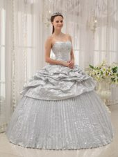 2013 Silver Sweetheart Floor-length Quinceanera Dress