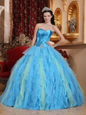 Quinceanera Dress 2013 Ball Gown Sweetheart Ruffle Beading