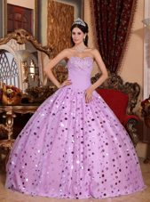 Sequins Sweetheart Lavender Shinning Quinceanera Dress