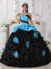 2013 Blue And Black asymmetrical Quinceanera On Sale