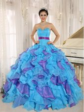 Multi-color Sweetheart Ruffles Quinceanera Dress Sashed
