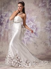 2013 Wedding Dress Mermaid Sweetheart Court Train Satin