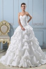 Fashionable Sweetheart 2013 Wedding Dress Pick-ups Ruches