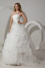 Perfect Ball Gown Court Wedding Dress 2013 With Beading