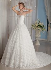 Rolling Flowers Beading 2013 Luxurious Wedding Dress