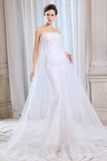 Pretty Wedding Dress Mermaid Court Appliques for 2013