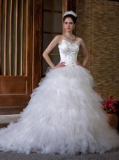 Sweetheart Chapel Appliques 2013 Fabulous A-line Wedding Dress