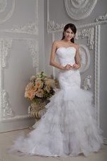 Affordable Wedding Dress 2013 Mermaid Sweetheart Beading Ruch