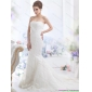 Fashionable Lace White Wedding Dress with Brush Train for 2015