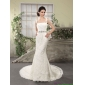 2015 Popular Lace Straps Wedding Dresses with Court Train