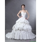 2015 Popular Sweetheart Wedding Dress with Lace and  Pick Ups