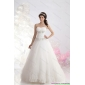 Sophisticated 2015 Sweetheart Wedding Dress with Brush Train