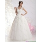 2015 Classical A Line Lace Wedding Dress with Floor-length
