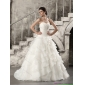 2015 Popular Wedding Dress with Beading and Ruffled Layers