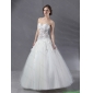 2015 Simple Sweetheart Lace Wedding Dress with Floor-length