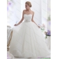Beautiful White Sweetheart Wedding Dresses with Hand Made Flowers