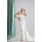 Beautiful White Sweetheart Wedding Dresses with Sequins and Brush Train