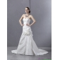 New Arrival Ruffled Sweetheart Ruched White Wedding Dresses with Brush Train
