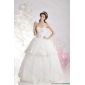 New Arrival Sweetheart Ruffles and Beading Wedding Dresses in White