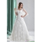 2015 New Arrival A Line Wedding Dress with Beading and Lace