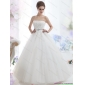 2015 New Arrival Strapless Beading Wedding Dress with Brush Train