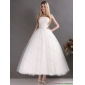2015 New Arrival Sweetheart Ankle-length Lace Wedding Dress