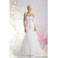 New Arrival Sweetheart Wedding Dress with Appliques and Ruffles for 2015