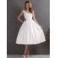 2015 Affordable Beaded Ruched  Wedding Dresses in White