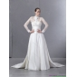 Affordable Strapless White Wedding Dresses with Brush Train