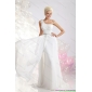 Affordable White One Shoulder Wedding Dresses with Ruching and Beading