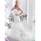 2015 Affordable Strapless Wedding Dress with Mermaid