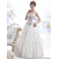 Affordable Strapless Bownot White Wedding Dresses with Rhinestones