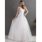 Affordable White Sweetheart Lace and Ruching Wedding Dresses with Brush Train